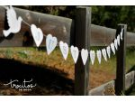 "Guirnalda ""Just Married"" en madera blanca"