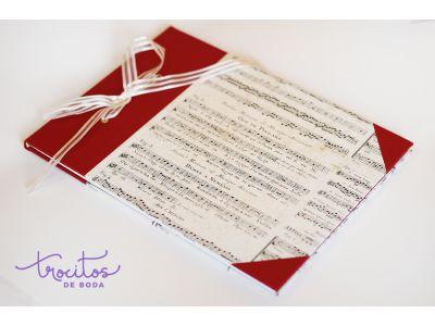 Libro de firmas artesanal MUSIC