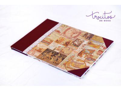 Libro de firmas artesanal VINTAGE